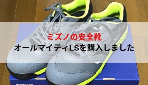 MIZUNO(ミズノ)の安全靴を購入しました。