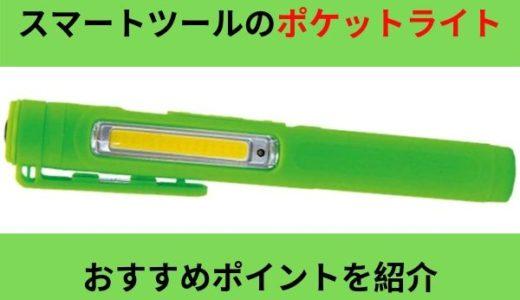 スマートツールのポケットライト(ペンライト)はかなり使いやすそうです。