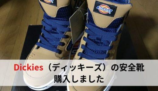ディッキーズの安全靴(セーフティシューズ)買いました